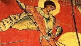 Святой Георгий Победоносец уникальная ИКОНА