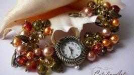 Часы «Осенний букет»