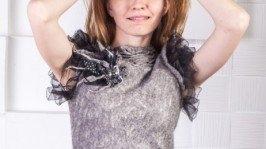 Валяное платье «Черная Лилия»