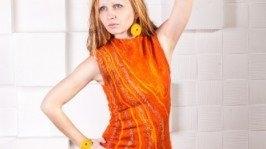 Валяное платье «Золотая середина»