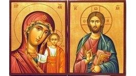 Венчальные иконы в византийской технике