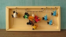 Комплект украшений «Злые птички»