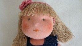«»Текстильная авторская кукла Анечка