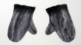 Варежки серые