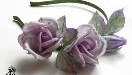 Обруч «Фіолетові трояндочки»