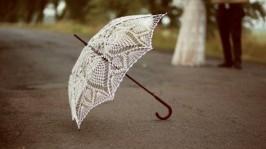 Зонтик вязаный крючком