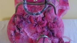 «Комплект валяний рожевий»