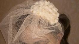 Свадебная или коктельная шляпка Нежность