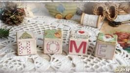Набор деревянных кубиков «I love vintage»