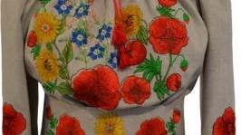 «платье вышитое Полевые цветы»