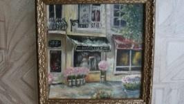 «Серия Улочки Парижа Цветочный магазин 20х20»