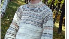 «Мужской пуловер Jacquard»