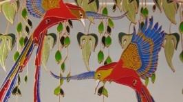 «Зеркальное панно Райские птицы. Витраж»