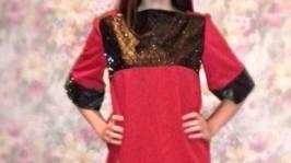 «Червона сукня з кож.замом Deria Fauzzy»
