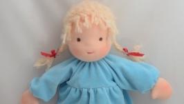 Вальдорфская кукла в пришивной одежде