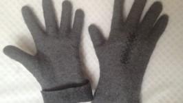 Мужские валяные перчатки