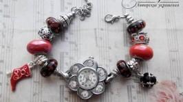 Часы Пандора Красное и черное