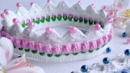 Вязанная корона«Цветочная»