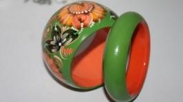 Браслет «Хризантема-оранж»