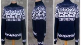 «Лоси»свитер с орнаментом-норвежские узоры