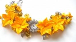 Наручные часы с цветочным браслетом