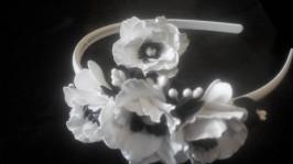«Белые маками» Комплект ободок и кольцо