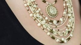 намисто і сережки «Перламутрове етно»