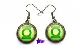 Серьги «Знак Зеленого фонаря»