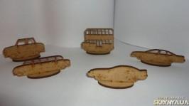 Машинки и паровозики деревянные