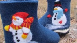 Валеночки Снеговики