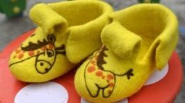 Детские валеночки-пинетки