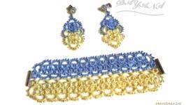 Комплект браслет и серьги «Украинский»