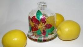 «Лимонница - подставка под лимон Фуксия, Витраж»