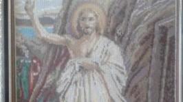 Вышитая картина Иоанн Креститель