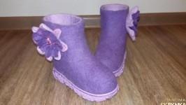 Детские валяные ботиночки