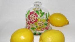 «Лимонница - подставка под лимон, Витраж»
