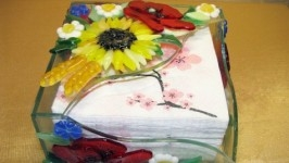 Салфетница Полевые цветы