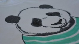 Футболка с ручной росписью Панда
