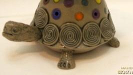 Керамическая глазурованная пепельница Черепаха