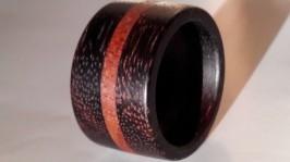 Кольцо из дерева палисандр и мербау.