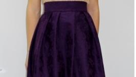 Юбочка из жаккарда - фиолет