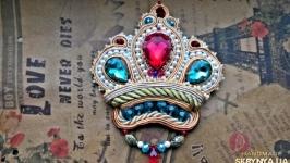 Сутажная брошь «Корона»