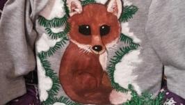 Боди Лисёнок под снежной елкой