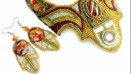 Комплект украшений колье браслет серьги