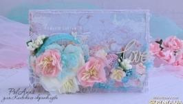 Нежная цветочная открыточка