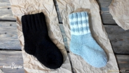 Бабушкины вязаные носки