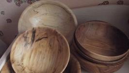 Деревяна тарілка