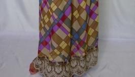 Шифоновая юбка с купоном