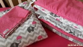 Одеяло-конверт на выписку Pink Elephants