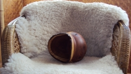 Деревянная ваза